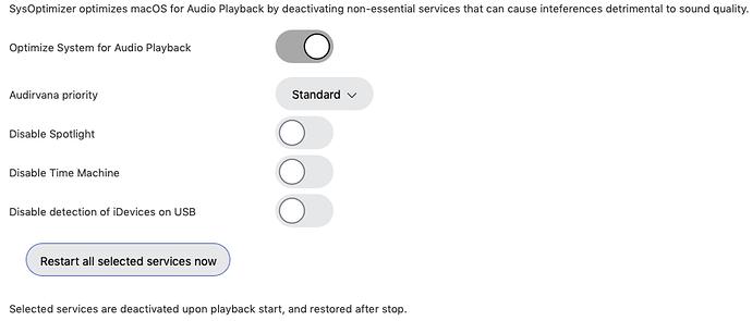 SysOptim settings
