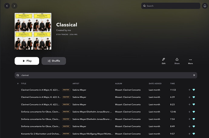 sort within playlist